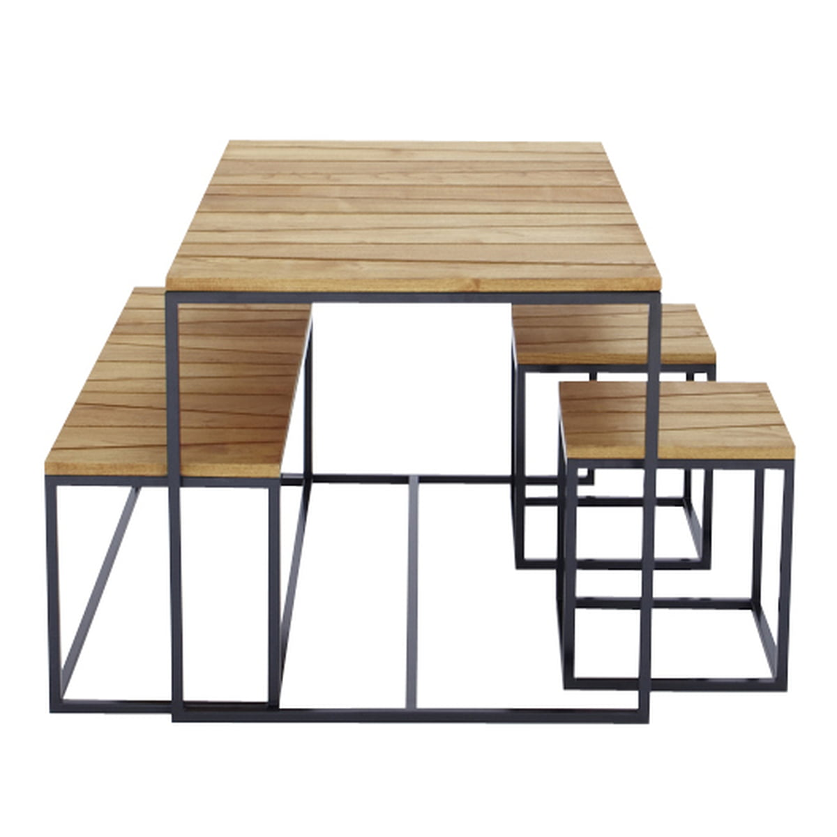 tischgruppe alois jan kurtz. Black Bedroom Furniture Sets. Home Design Ideas