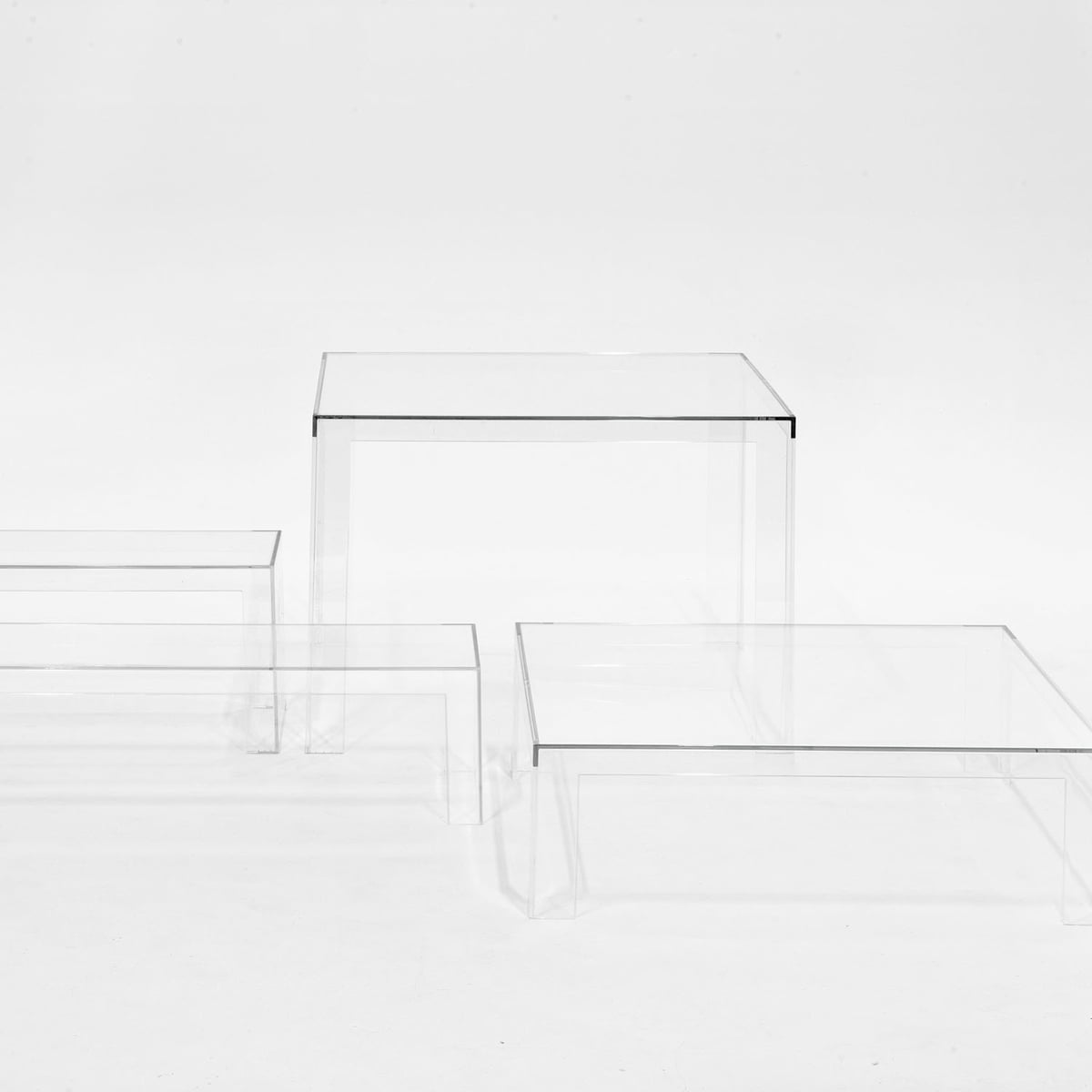 Kartell Invisible Table H 31,5cm, glasklar