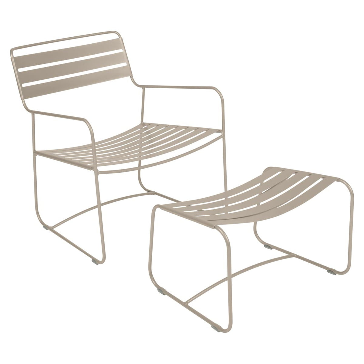 surprising lounger sessel fu ablage von fermob. Black Bedroom Furniture Sets. Home Design Ideas