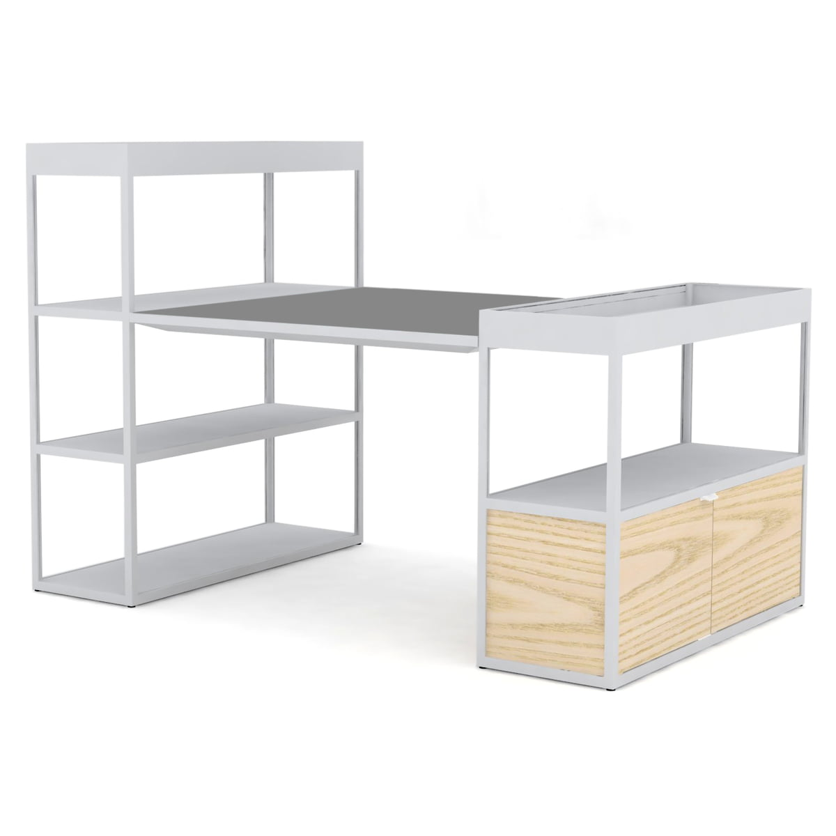 new order shelf with table von hay. Black Bedroom Furniture Sets. Home Design Ideas