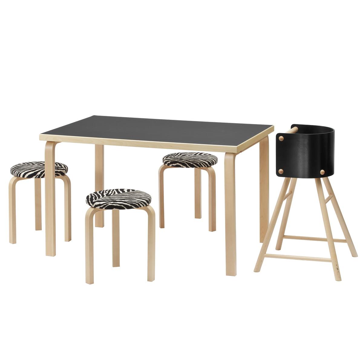 tisch 81a von artek. Black Bedroom Furniture Sets. Home Design Ideas