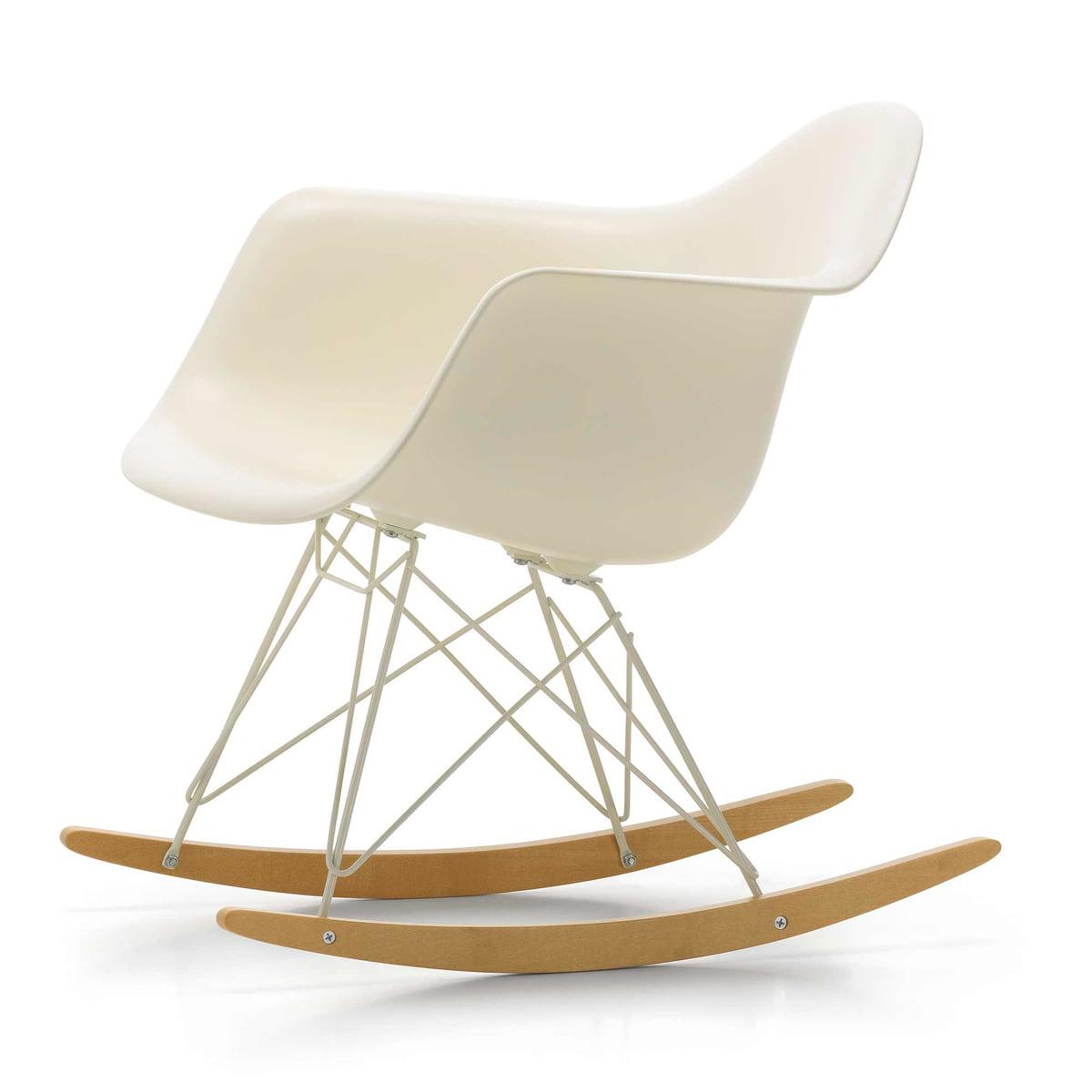 Vitra   Eames Plastic Armchair RAR, Ahorn Gelblich / Drahtuntergestell  Elfenbein, Cremeweiß (Limited