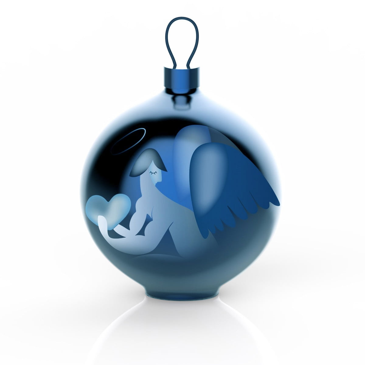 Christbaumkugeln At.Alessi Blue Christmas Christbaumkugeln Engel