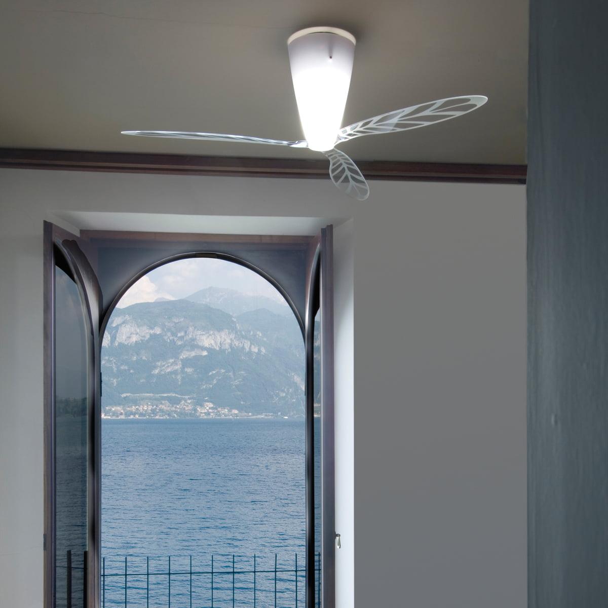 blow ventilator deckenleuchte von luceplan. Black Bedroom Furniture Sets. Home Design Ideas