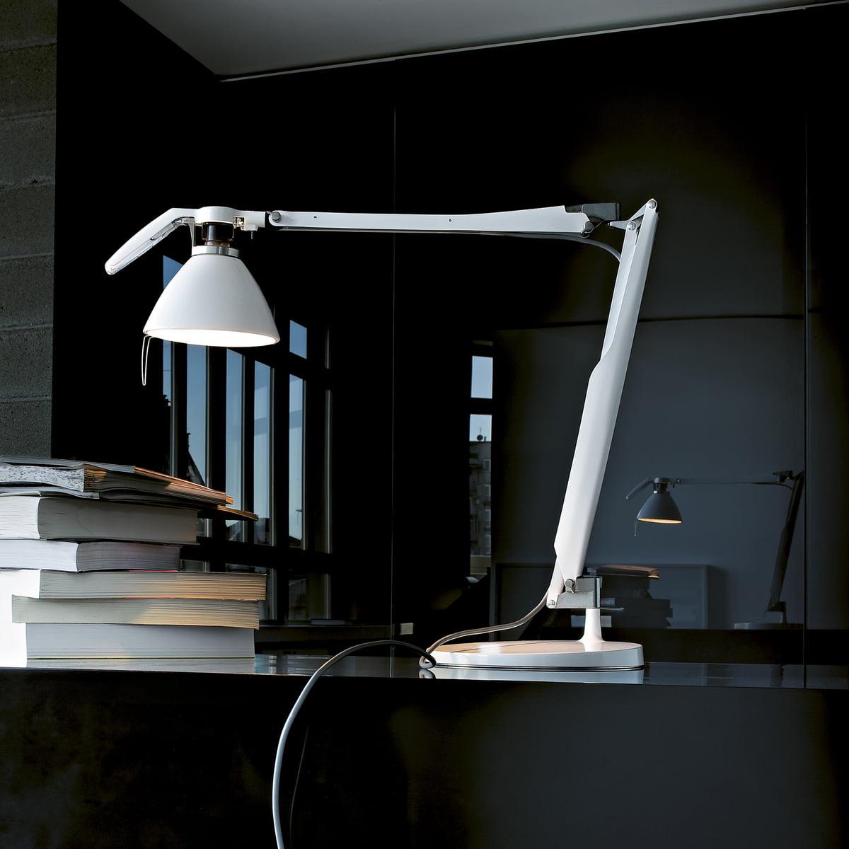 Fortebraccio Schreibtischleuchte Von Luceplan In Weiß