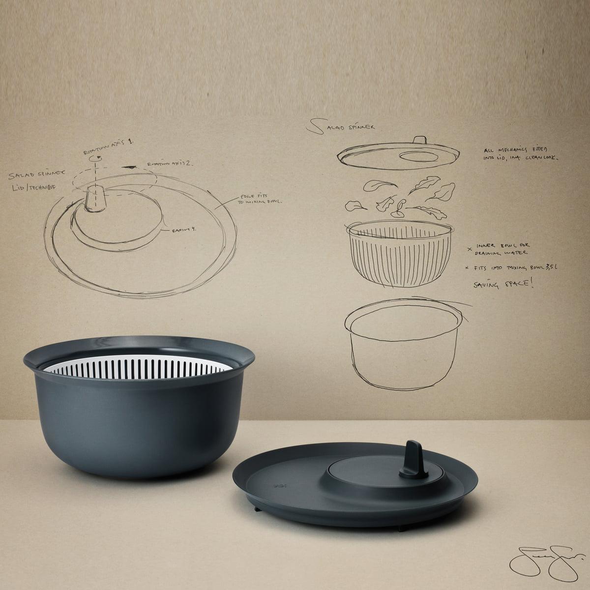 salatschleuder f r r hrsch ssel 3 5 l von rig tig by stelton. Black Bedroom Furniture Sets. Home Design Ideas