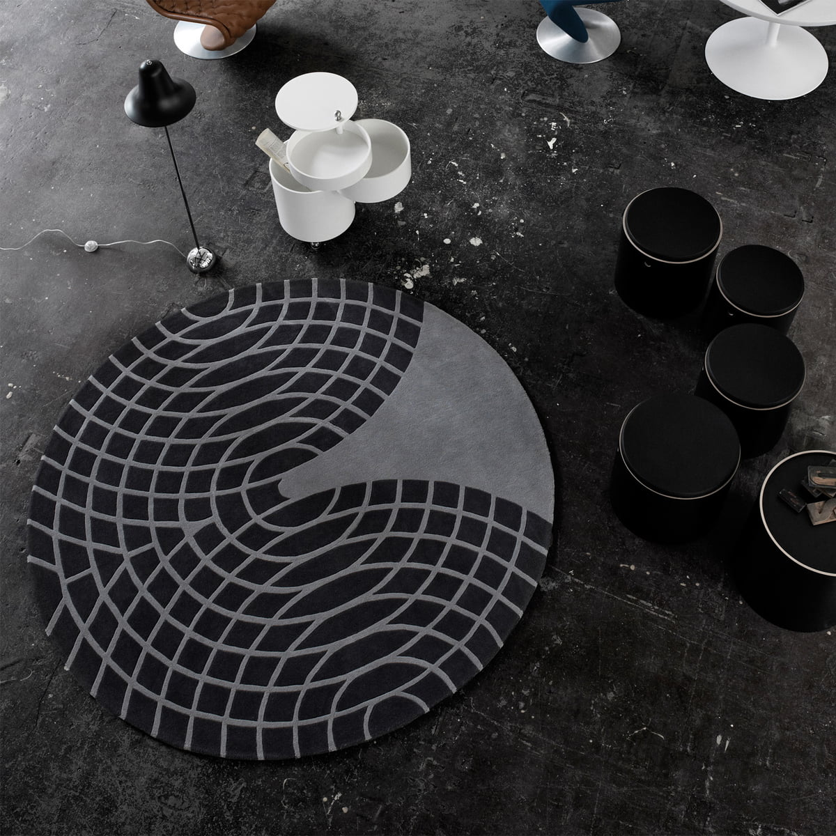 panton teppich von verpan. Black Bedroom Furniture Sets. Home Design Ideas