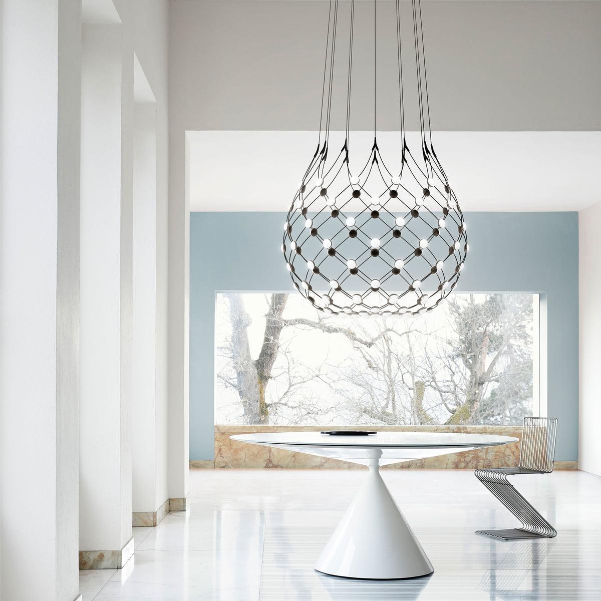mesh pendelleuchte von luceplan bei. Black Bedroom Furniture Sets. Home Design Ideas