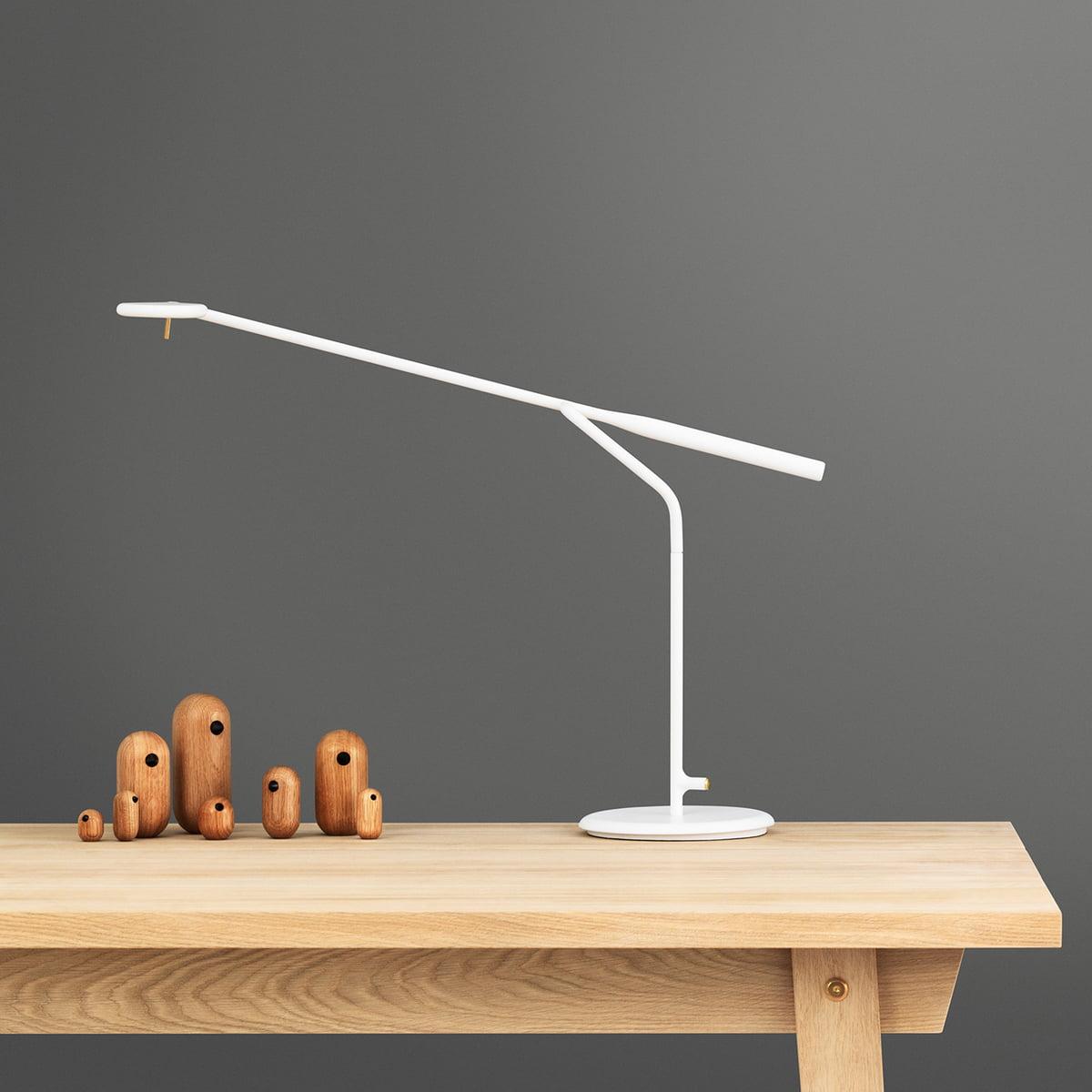 Normann Copenhagen Flow LED Tischleuchte, weiß