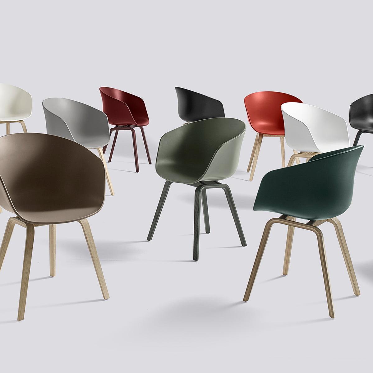 aac stuhl von hay mit farbigem gestell kaufen. Black Bedroom Furniture Sets. Home Design Ideas