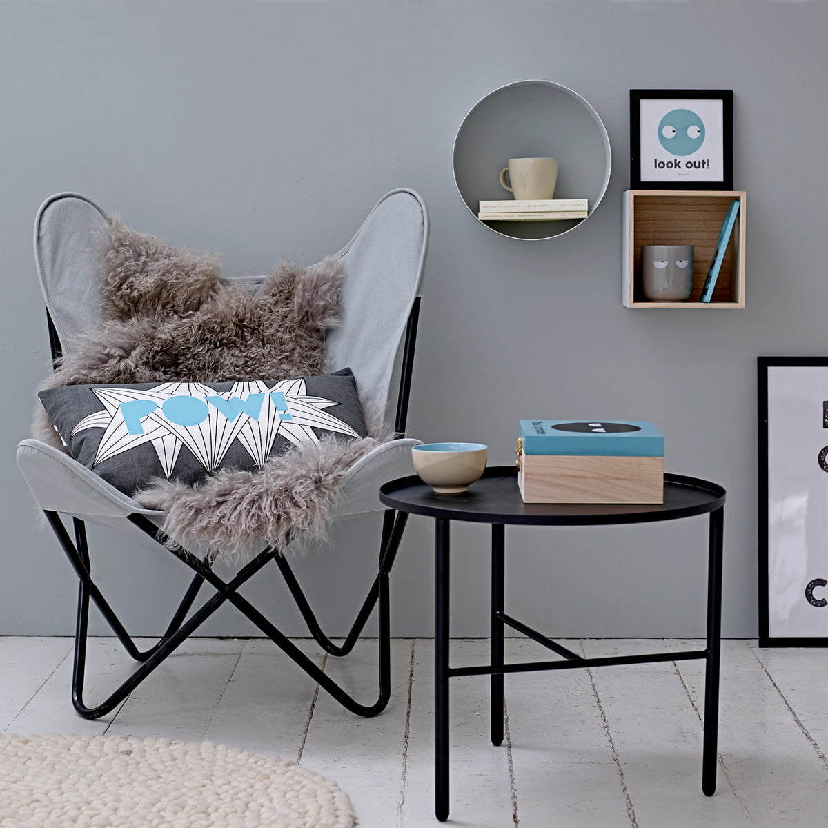 mongolisches schaffell von bloomingville. Black Bedroom Furniture Sets. Home Design Ideas