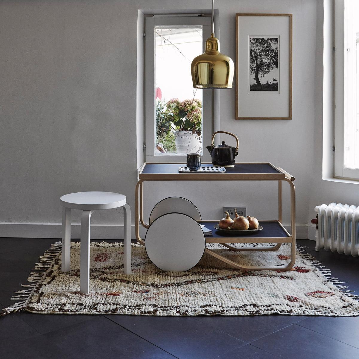 servierwagen 901 von artek. Black Bedroom Furniture Sets. Home Design Ideas