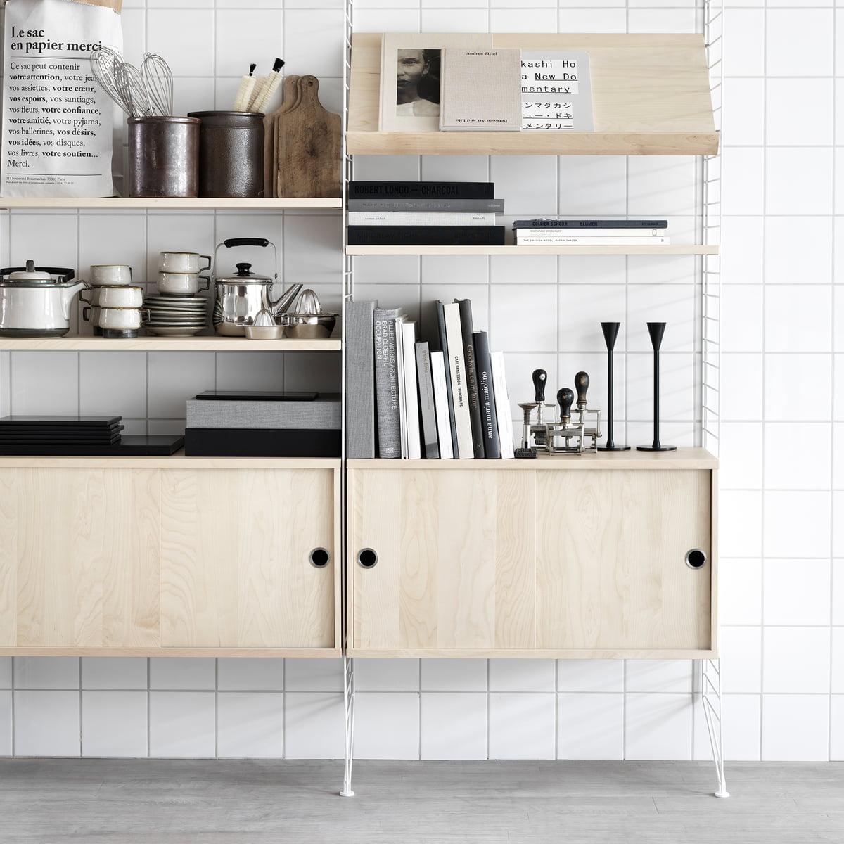 schiebet ren schrank von string kaufen. Black Bedroom Furniture Sets. Home Design Ideas