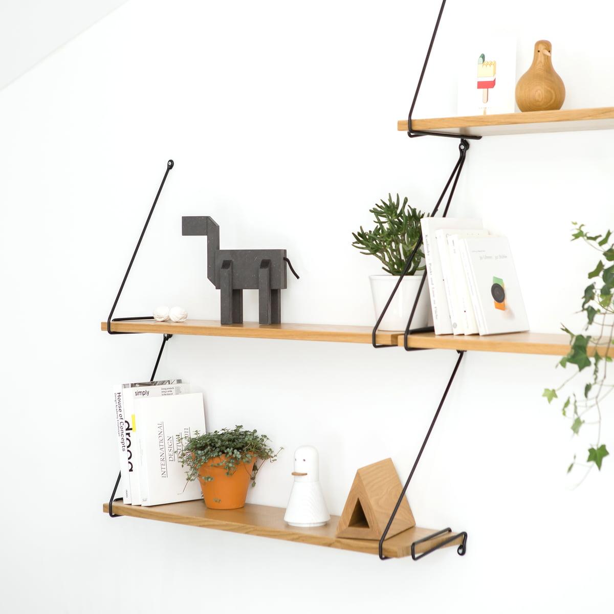 wire regalsystem aus eiche connox shop. Black Bedroom Furniture Sets. Home Design Ideas