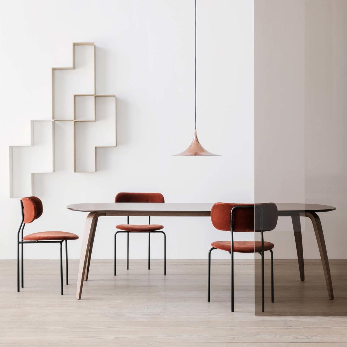 semi pendelleuchte von gubi. Black Bedroom Furniture Sets. Home Design Ideas