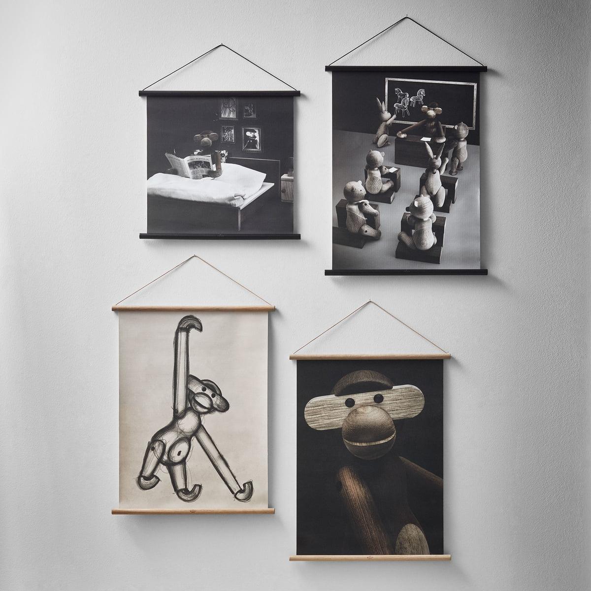 affe portr t inkl rahmen von kay bojesen. Black Bedroom Furniture Sets. Home Design Ideas