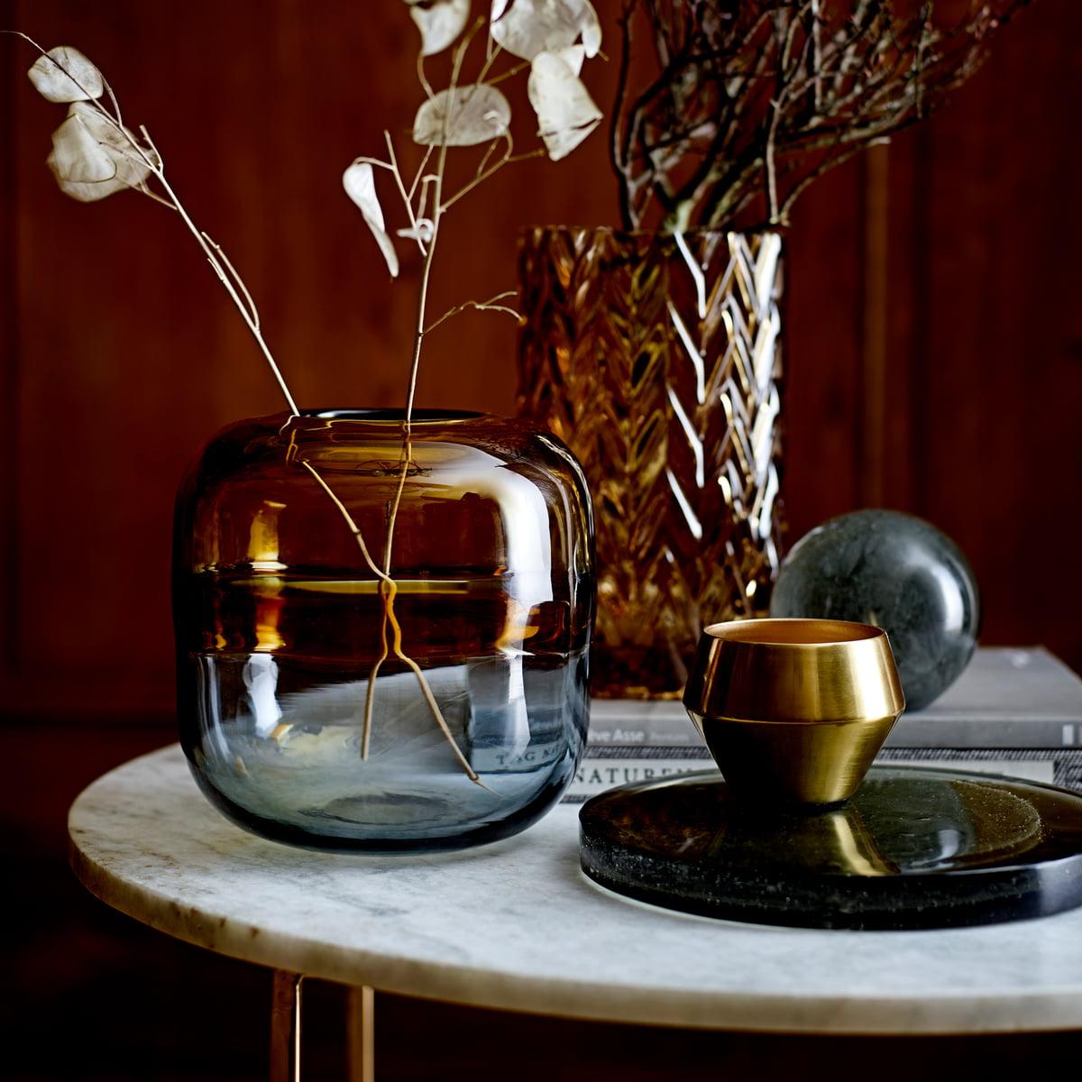 Bloomingville   Glas Vase H 20,20 cm, braun