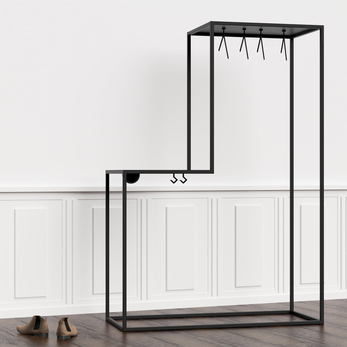 stand01 garderobe von nichba design. Black Bedroom Furniture Sets. Home Design Ideas