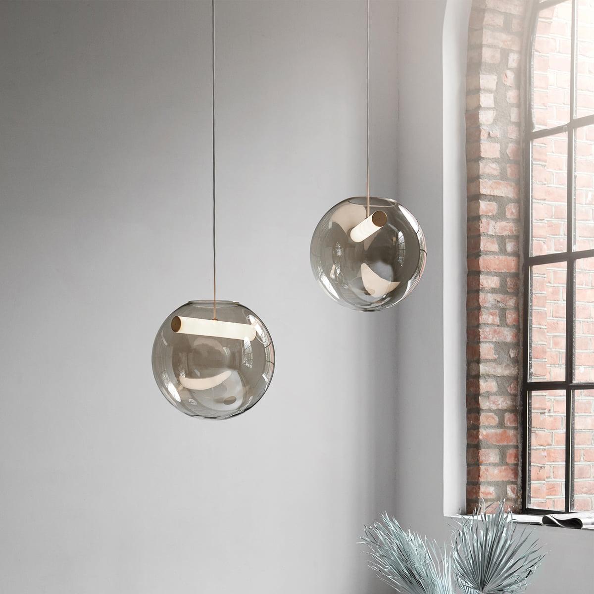 pendelleuchte glas grau 12 lampen