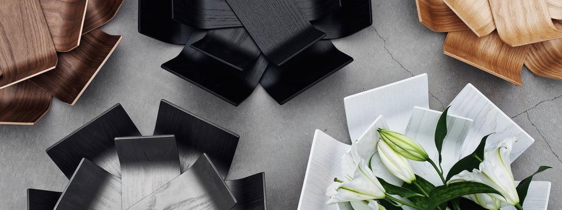 BeDesign ist eine finnische Design-Firma. Die Lily Schale erinnert an eine aufblühende Blume. Hergestellt wird diese besondere, hübsche Schale aus Holz.
