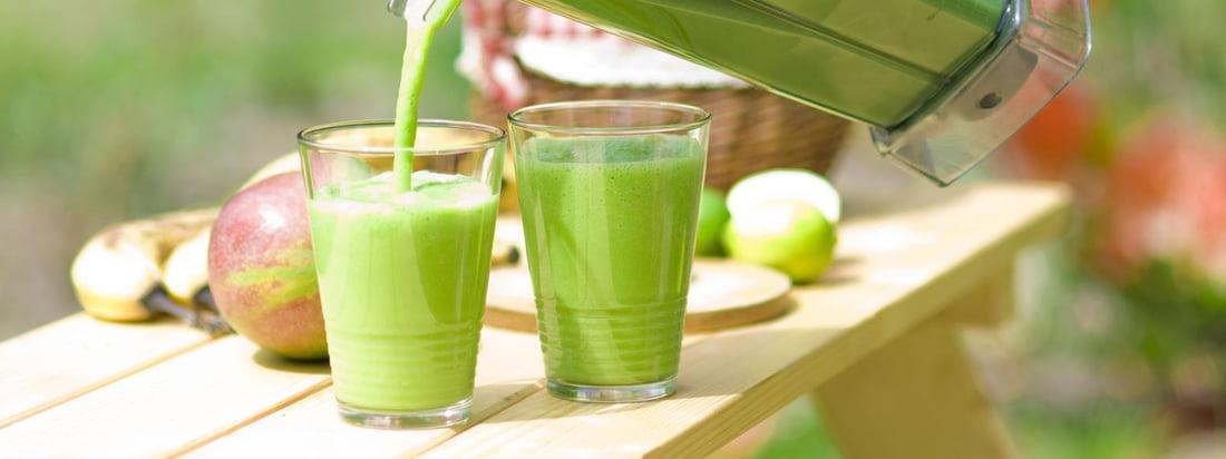 Die Standmixer von Bianco bereiten im Handumdrehen grüne Smoothies zu. Mit dem Premium Nassbehälter werden die frischen, leckeren Getränke stilgerecht serviert.