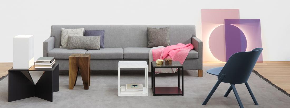 Die Firma e15 produziert hochwertige Möbel wie den Backenzahn Beistelltisch, den This Stuhl, den Calvert Couchtisch und den FortyForty Tisch. Hier im Design-Shop kaufen.