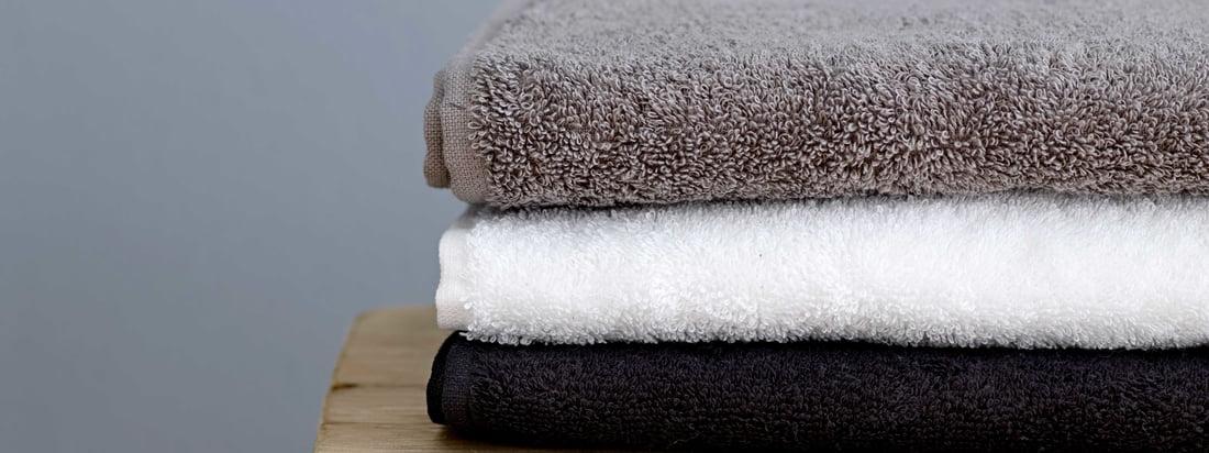 Södahl - Comfort Handtuch, schwarz, weiß und grau