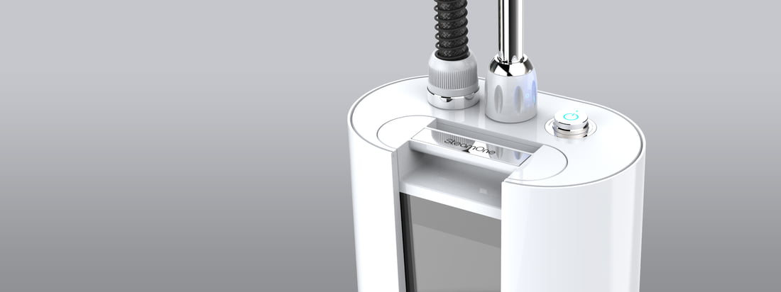 SteamOne stellt Dampfglätter für Kleidung und andere Textilien her. Die Steamer überzeugen neben der Funktion durch eine hochwertige Optik. Unter anderem in Weiß erhältlich.