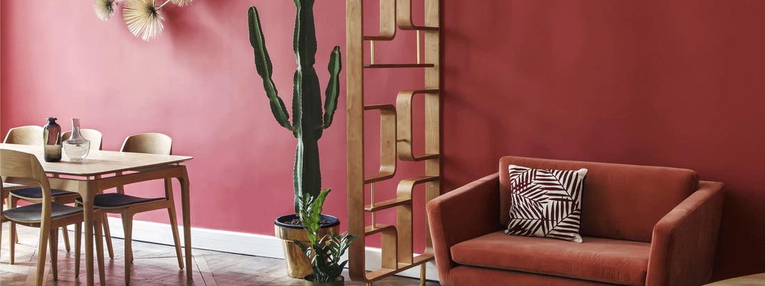 Der Sichtschutz von red edition ist ein dekoratives Element der Raumteilung und macht sich besonders gut mit den Möbeln aus der Fifties Kollektion von red edition.