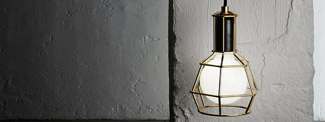 Design House Stockholm - Work Lamp gold wide - Situationsbild