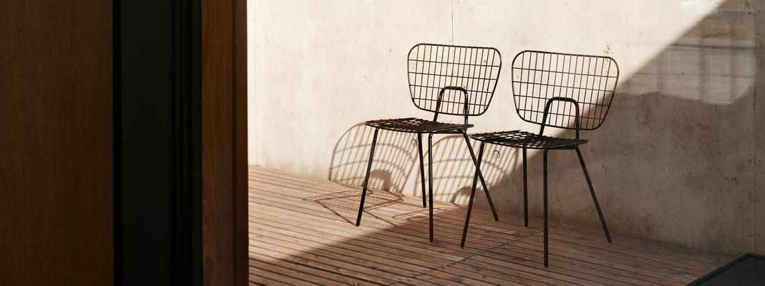 Hinter dem Drahtdesign des WM Dining Chair steht das Designstudio WM aus Rotterdam. Die Gründer Wendy Legro und Maarten Collignon möchten nahtlose einfache Designs schaffen, die die Liebe widerspiegeln, die in sie und ihre Details gesteckt wurden.