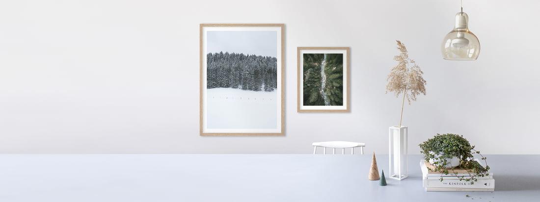 Die Poster mit Landschaft von artvoll harmonieren in einer Gallery Wall mit verschiedenen Landschaftsmotiven und bringen lebhaft die Natur in Ihr Zuhause.
