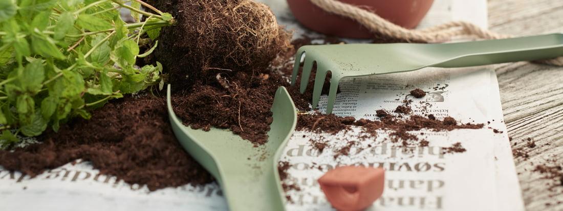 Themenseite: Bepflanzung - Rig-Tig by Stelton - Green-It Gartenwerkzeug - Einzelabbildung - Gartenwerkzeug-grün-Pflanztopf