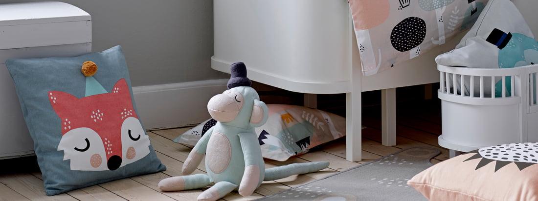 In Zusammenarbeit mit der Illustratorin und Designerin Michelle Carlslund hat Södahl die Kids Kollektion entwickelt. Alle Produkte werden aus weicher Baumwolle gefertigt.