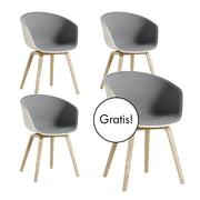 3 + 1 Angebots-Set: Hay - About A Chair AAC 22 mit Innenpolsterung