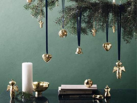 Die Christmas Collectibles 2017 besteht aus edlen, weihnachtlichen Accessoires. Die Weihnachtskollektion von Georg Jensen umfasst Weihnachtsbaumschmuck sowie kleine Dekoobjekte..