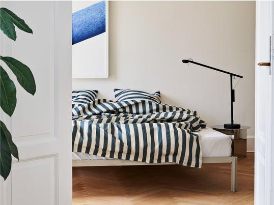 Schaffen Sie eine wohlige Atmosphäre in Ihrem Schlafzimmer mit unseren Schlafzimmer-Ideen. Schmücken Sie Ihr Bett z. B. mit den Dot und den Knot Kissen!