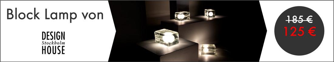 Kategoriebanner: Block Lamp zum Promotion-Preis