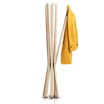 Bloom achtarmiger Kleiderständer, Arme aus massiver Esche