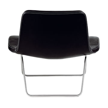 Hay Ray Lounge Chair Leder schwarz