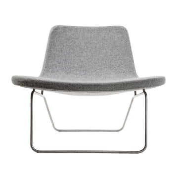 Hay Ray Lounge Chair Stoff hellgrau