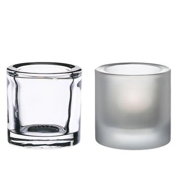 Kivi Teelichthalter, 2er-Set (klar / matt) Sonderedition!