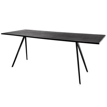 Baguette Tisch 205 - schwarz / schwarz