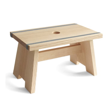 side by side - Fußschemel Little Stool - blaugrau