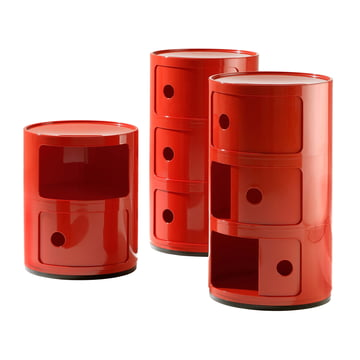 Kartell - Componibili - Gruppe, rot