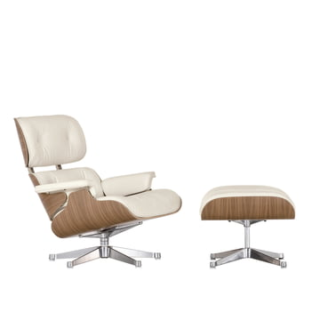 Vitra Eames Lounge Chair & Ottoman - Nussbaum weiß