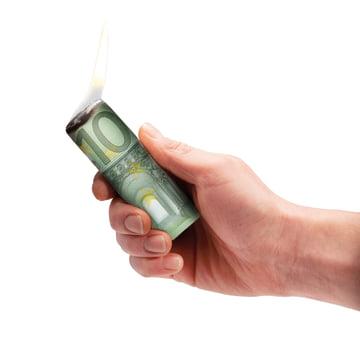 Donkey Products - Burn your money, Euro - angezuendet