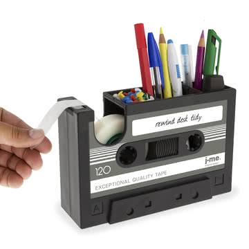 j-me - Rewind Schreibtischhelfer, dunkelgrau - gefüllt