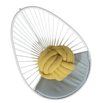 OK Design - The Acapulco Chair, weiß, Sitzkissen grau - oben