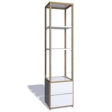 Flötotto - ADD Realturm, 2 Schubladen, Melamin weiß